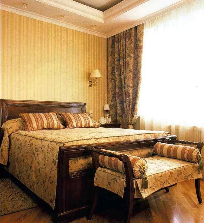 Спальная комната в английском стиле фото