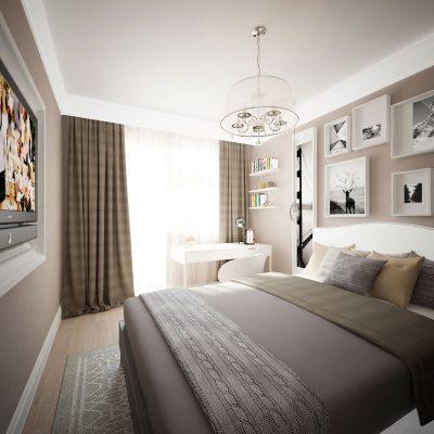 Спальня в современном стиле необычная