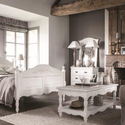 Спальня в стиле прованс в серых тонах
