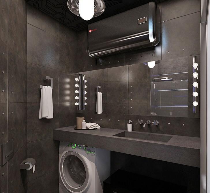Сталь в ванной комнате
