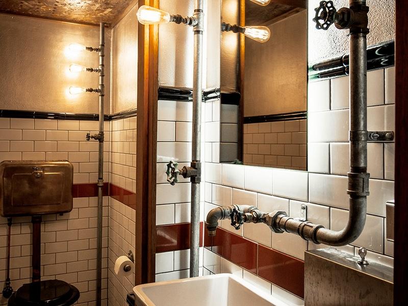 Стиль лофт в ванной фото