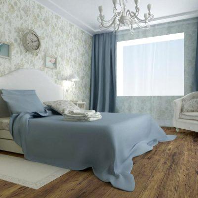 Теплые оттенки спальни в стиле кантри