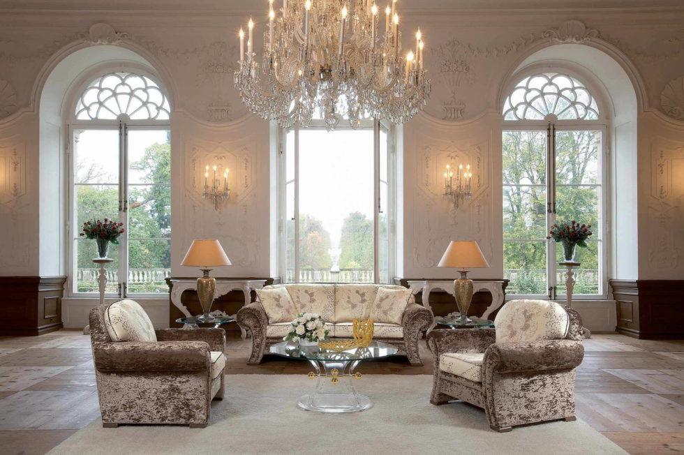 Изысканная мебель для гостиной в классическом стиле