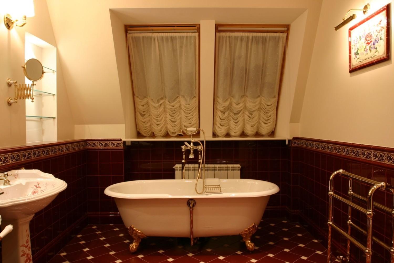 Уютный интерьер ванной комнаты