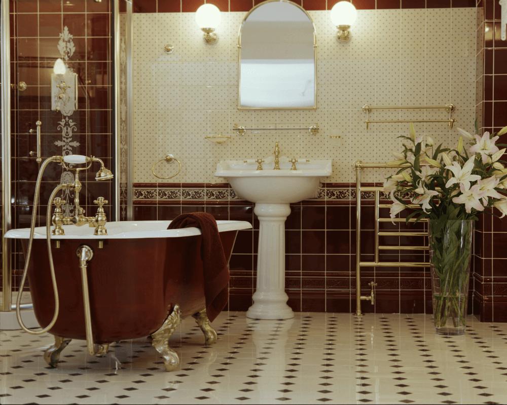 Ванная в викторианском стиле