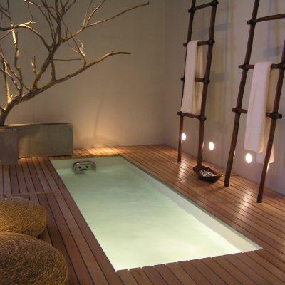 Визуализация ванной комнаты в восточном стиле
