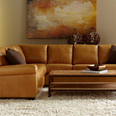 Классический коричневый цвет дивана