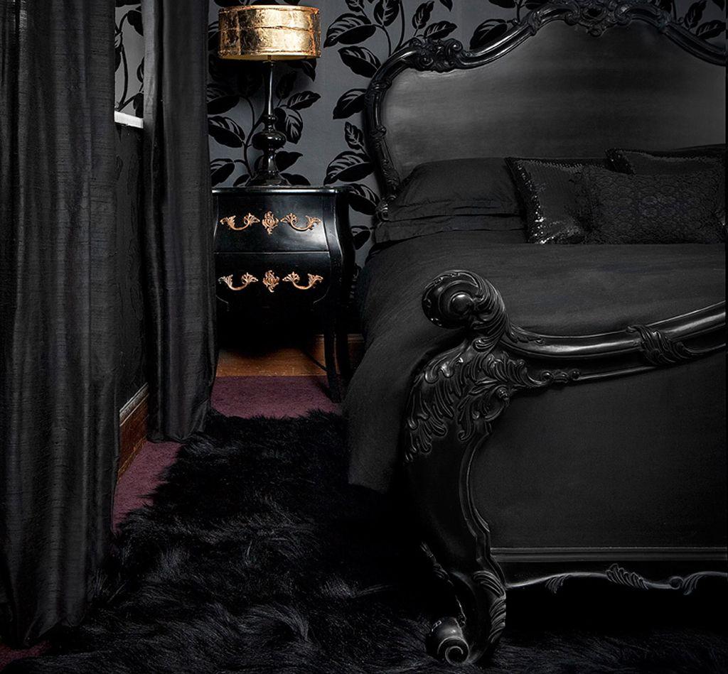вот картинки комнат в черном цвете невезение