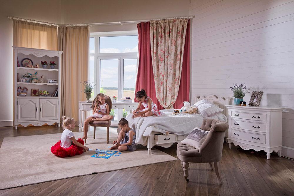 Детская комната в стиле прованс в комнате девочки