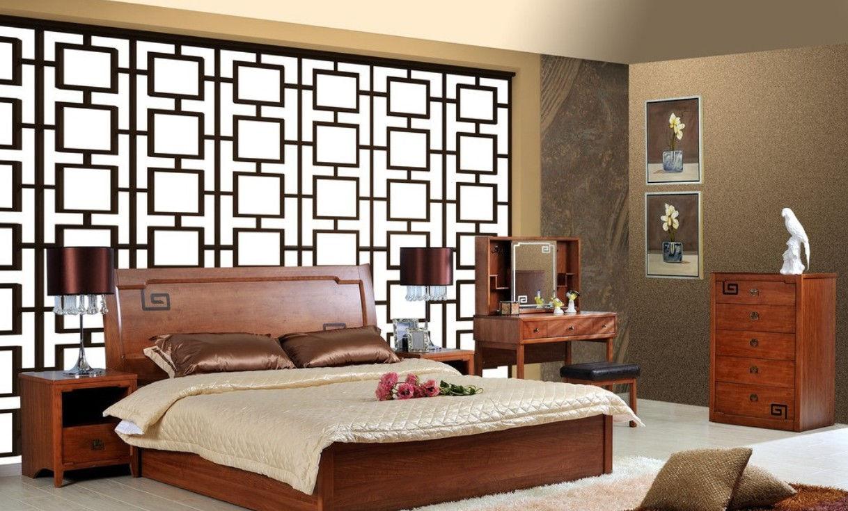Невысокая, в меру жесткая постель из натуральных материалов - отличное решение для комнаты в китайском стиле!