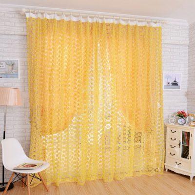 Яркие шторы желтого цвета