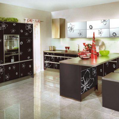 Рисунки на мебели кухни