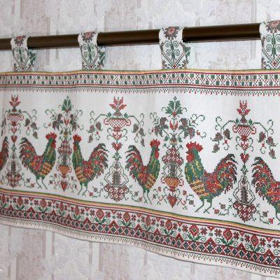 Деревенская вышивка для штор в стиле кантри