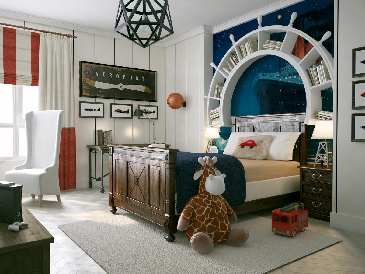 бык картинки комнат в морском стиле моноблока
