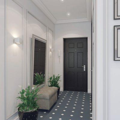 Дизайн прихожей в квартире в стиле неоклассики