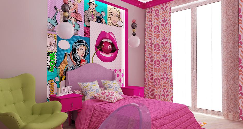 Поп-арт в комнате для девочки