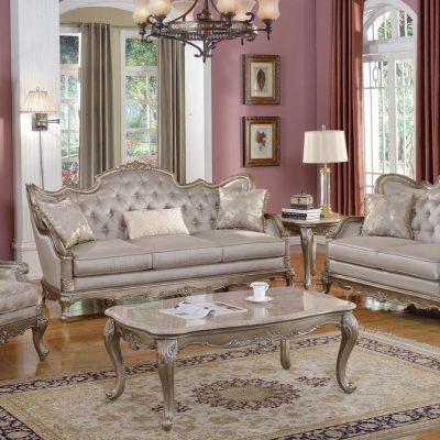 Мебель светлых тонов в гостиной