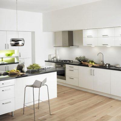 Модерн стиль белой кухни