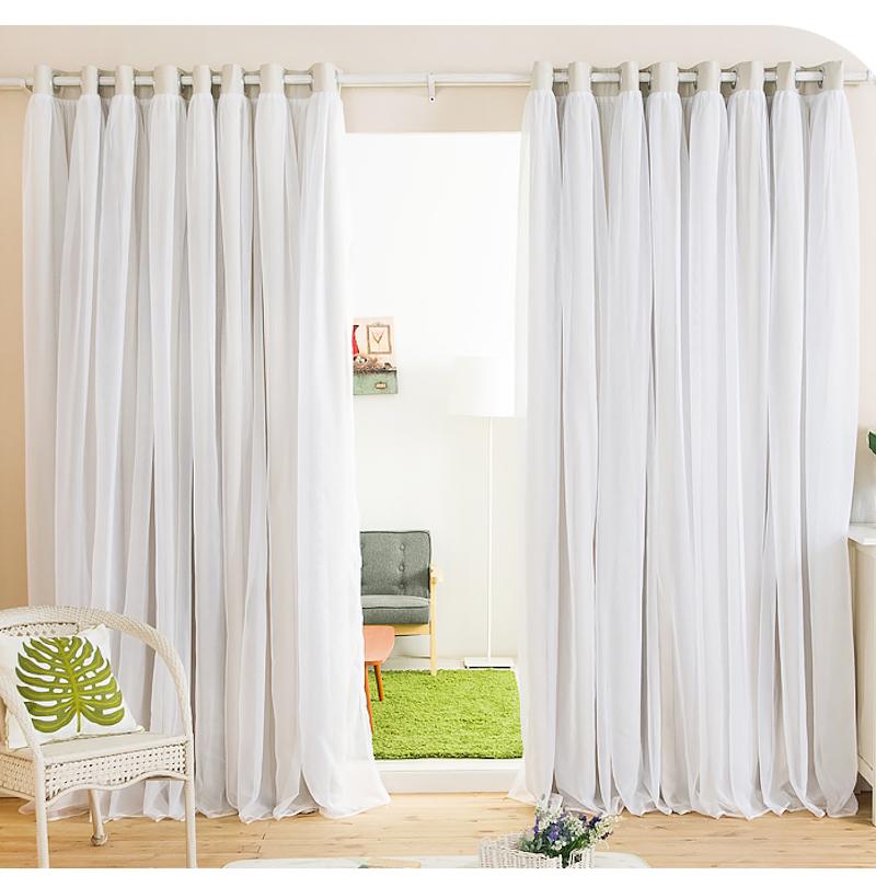 Белые шторы легкие
