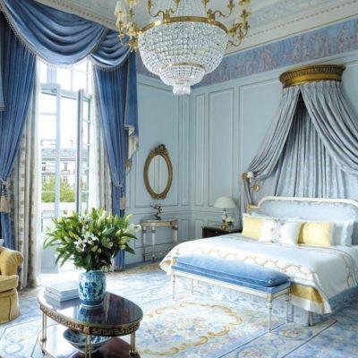 Голубая спальня в стиле ампир