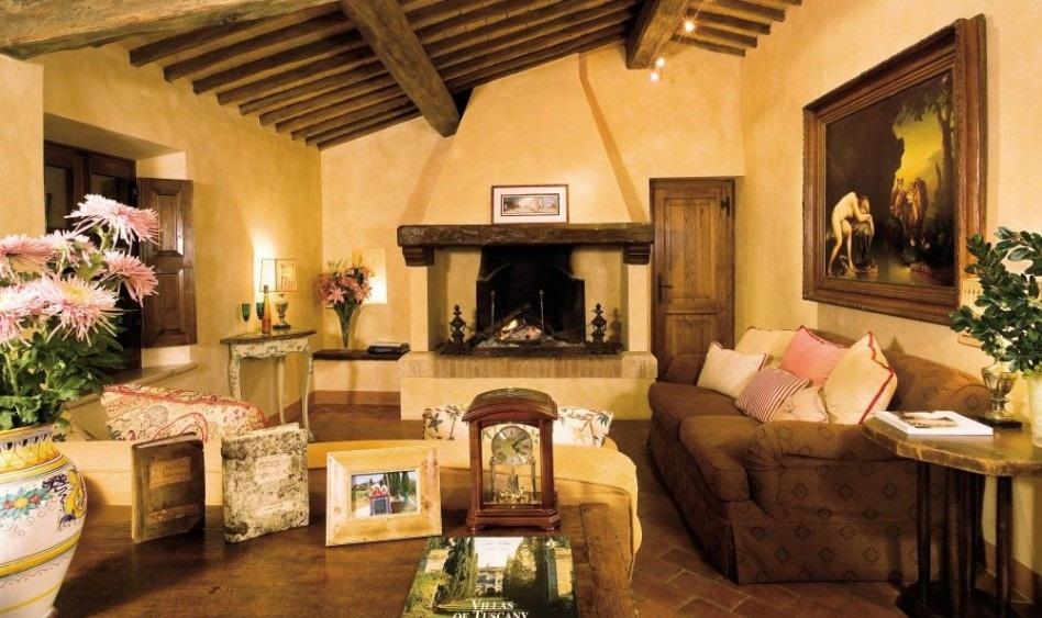 Шале немыслим без деревянных потолочных балок