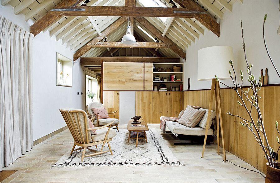 Скандинавсая гостиная - это всегда светлое и очень уютное пространство
