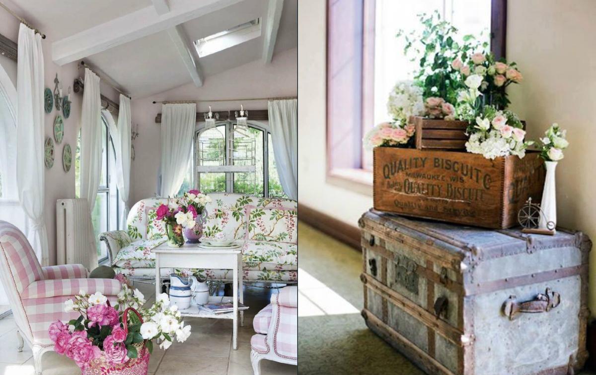 Цветочный декор - визитная карточка стиля прованс