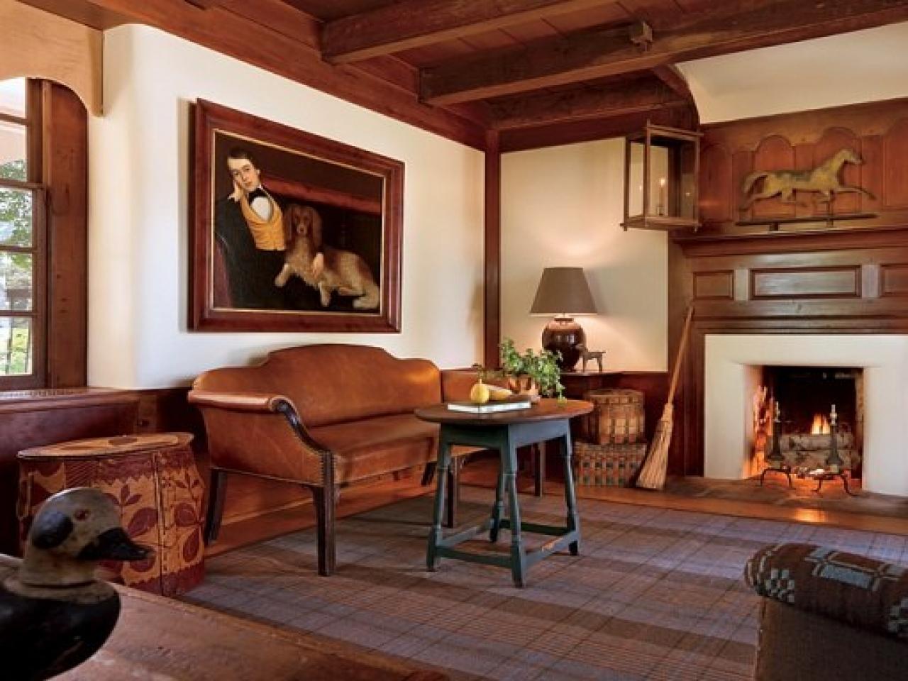 Гостиная в американском деревенском стиле