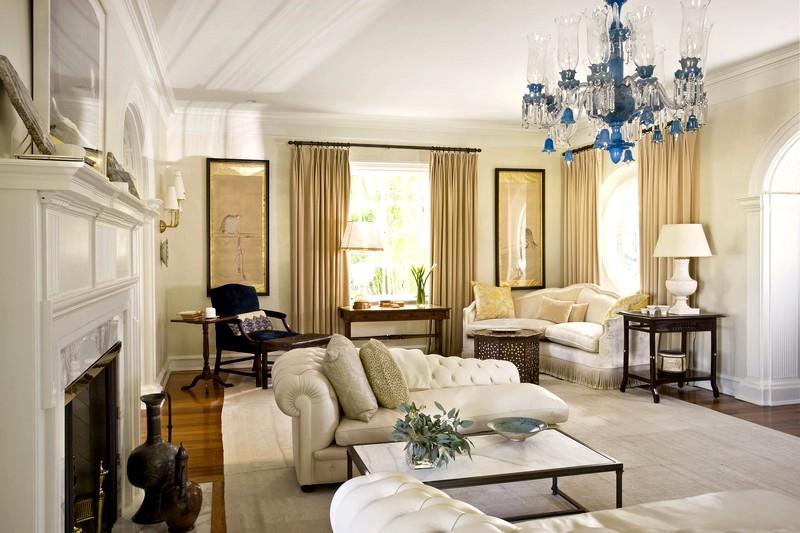 Идея для оформления гостиной в классическом стиле