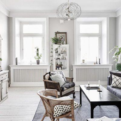 Выкрашенная мебель в скандинавском стиле