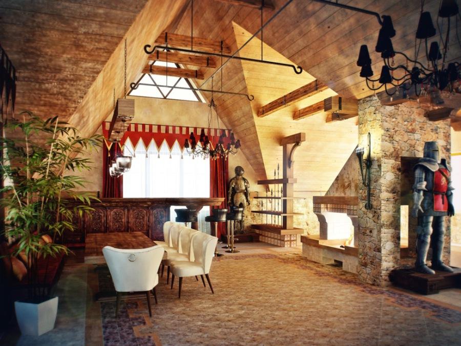 Натуральный камень дерево в готическом стиле