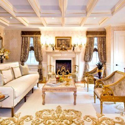 камин в классической гостиной