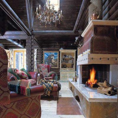 Кантри в бревенчатом доме