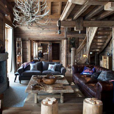 Кантри в деревянном доме