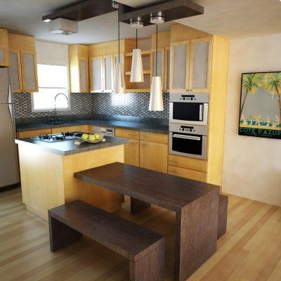 Комната кухни на фото