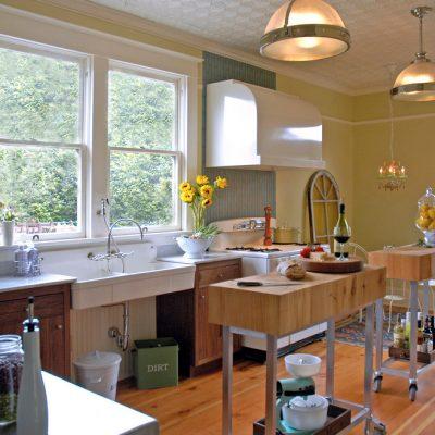 Кухня в стиле ретро и модерн