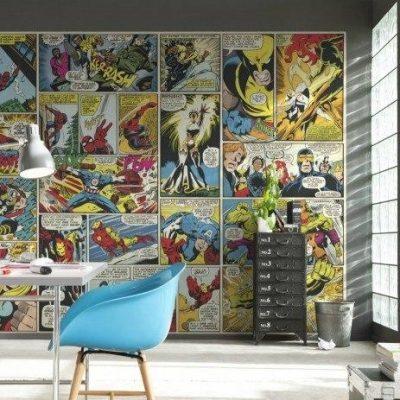 стена с комиксами в стиле поп-арт