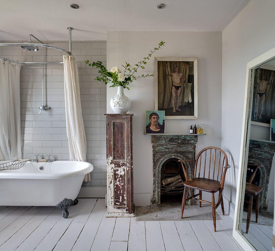 В стиле шебби-шик можно выдержать всю квартиру: спальню, кухню, гостиную и даже ванную