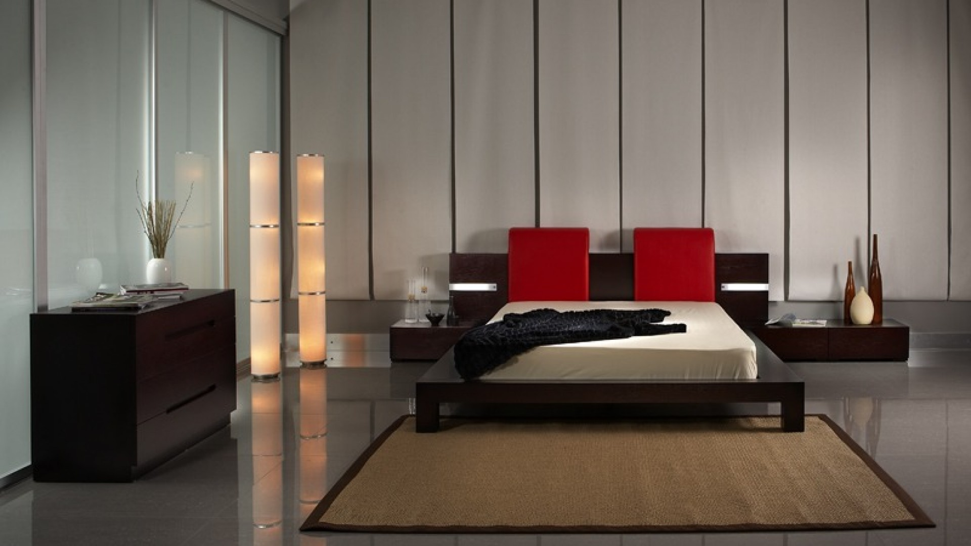 Мебель для спальни лучше выбирать простой формы