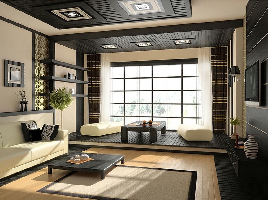 В интерьере японского стиля господствуют умиротворенность, чистота, гармония