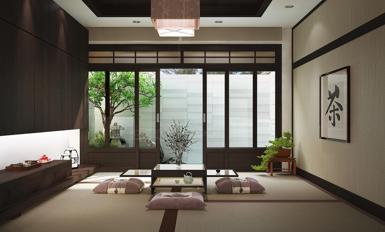 Японский стиль тяготеет к минимализму в интерьере