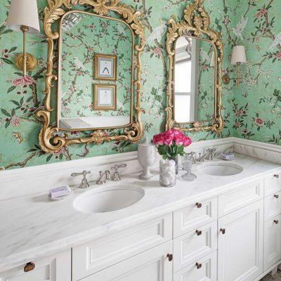 Зеркала в ванной в викторианском стиле