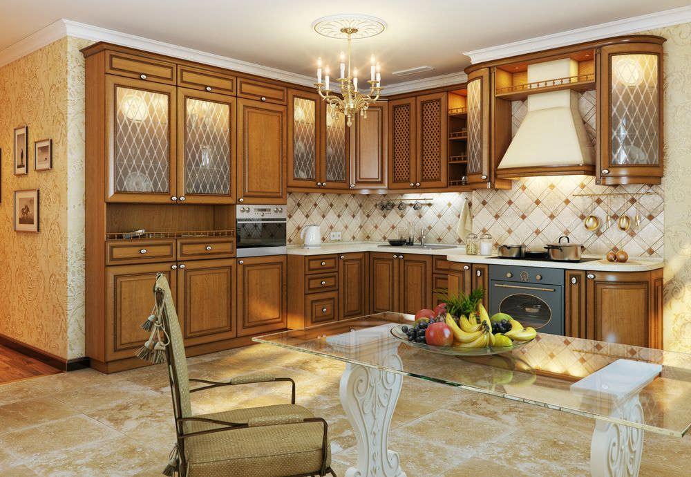 Кухня украшенная аксессуарами
