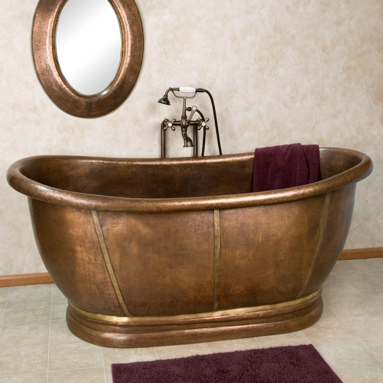 Латунная ванна в стиле ретро