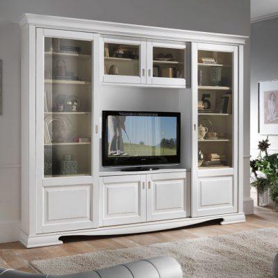 Белая стенка с телевизором