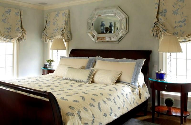 лондонские шторы в спальне