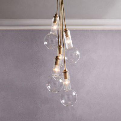 Люстра из лампочек в стиле модерн