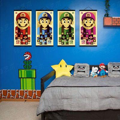 комната в стилистике игры супермарио