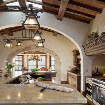 Огромная арка на кухне