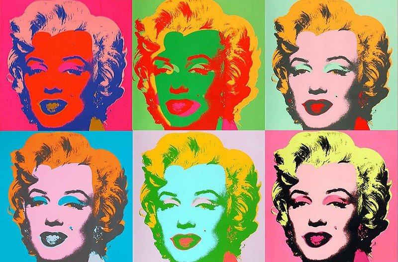 Работа Энди Уорхала с изображением кинодивы Мэрилин Монро